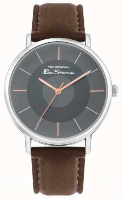 Ben Sherman Men's Brown Leather Strap | Grey Dial | BS026BR