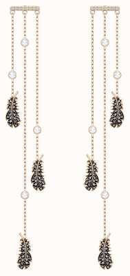 Swarovski Naughty | Rose-Gold plated |Black |Chandelier | Earrings 5497873