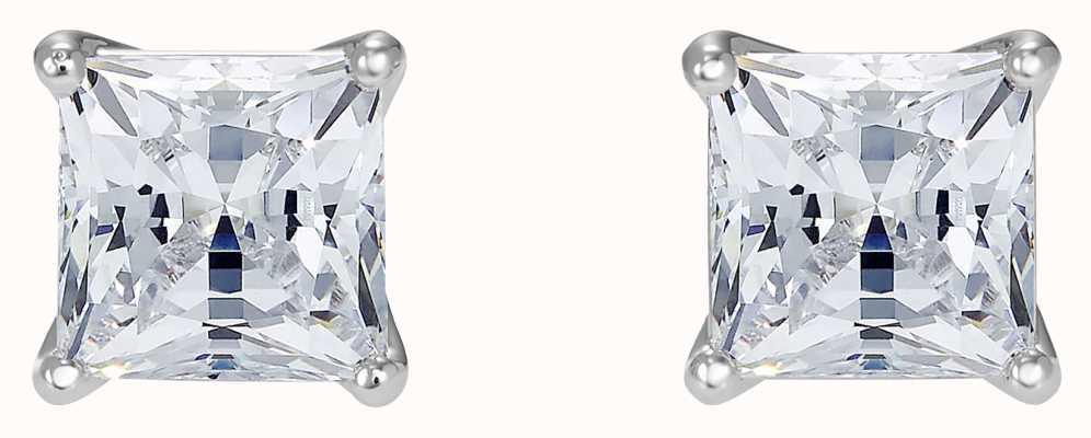 Swarovski Attract | Rhodium Plated |White |Square |Earrings 5509936