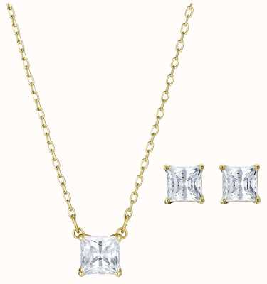 Swarovski Attract |Gold-Tone Plated |White |Necklace And Earring Set 5510683