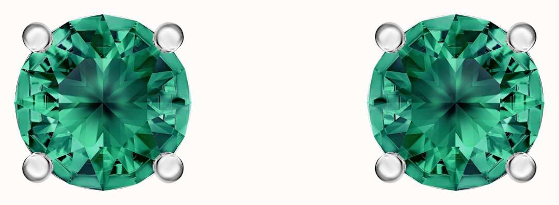 Swarovski Attract | Rhodium Plated | Green | Stud Earrings 5512384