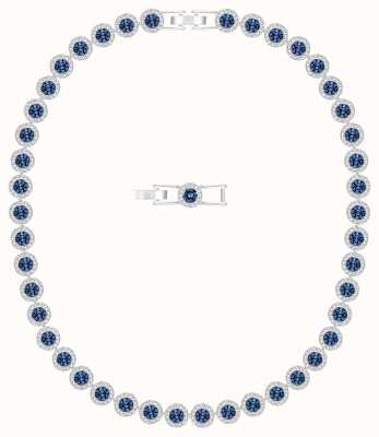 Swarovski Angelic | Necklace | Rhodium Plated | Blue 5482698