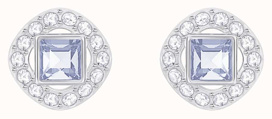 Swarovski Angelic | Rhodium Plated | Blue | Square | Earrings 5352048