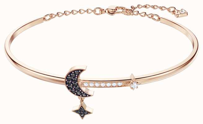 Swarovski Symbolic | Rose-Gold Plated | Black | Moon | Bangle 5429729
