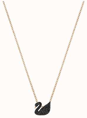 Swarovski | Iconic | Black Swan Pendant | Rose Gold Necklace | 5204133