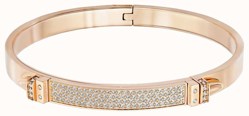 Swarovski Distinct | Rose Gold Plated Bangle | White Stones | Medium 5152481