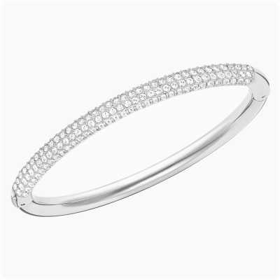 Swarovski Stone | Rhodium Plated Bangle | White Stones | Medium 5032846