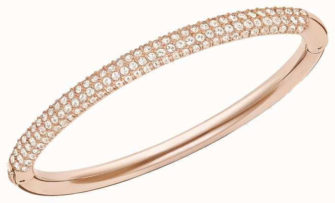 Swarovski Stone | Rose Gold Tone Bangle | White Stones | Medium 5032850
