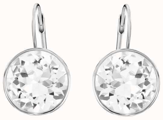 Swarovski Bella | Pierced Stud Earrings | Rhodium Plated | White Stone 883551
