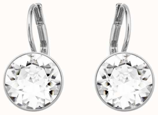 Swarovski Bella | Mini Pierced Earrings | Rhodium Plated | White Stone 5085608