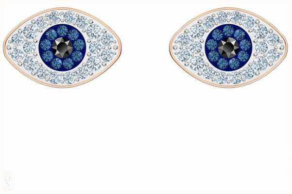 Swarovski Symbolic | Stud Pierced Earrings | Blue | Rose Gold Plated 5510067