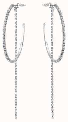 Swarovski Fit | Large Pierced Hoop Earrings | Stainless Steel | White 5504570