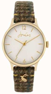 Joules '30th Anniversary ' | Green Tweed Fabric Strap | White Dial JSL029NG