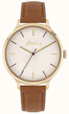Joules | Women's Harthorpe | Tan Leather Strap | Off White Dial | JSL022TG
