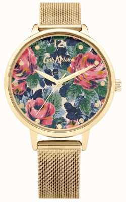 Cath Kidston Pembroke Rose | Gold Mesh Bracelet | Floral Dial | CKL085GM