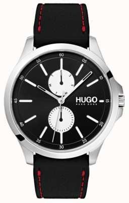 HUGO #JUMP | Black Rubber Strap | Black Dial | 1530001