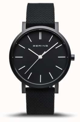 Bering | True Aurora | Black Rubber Strap | Black Dial | 16934-499