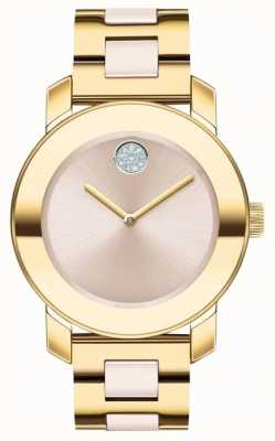 Movado | Bold | Gold Plated Stainless Steel | Beige Dial 3600640