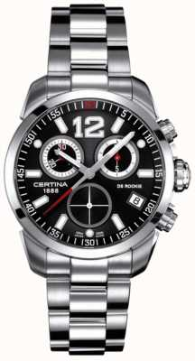 Certina DS Rookie | Chronograph | Black Dial | Stainless Steel C0164171105700