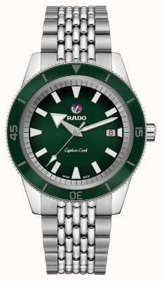RADO XL 'Captain Cook' Stainless Steel Bracelet Green Dial R32505313