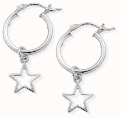 ChloBo   Women's Open Star Hoop Earrings   Sterling Silver   SEH097