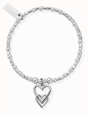 ChloBo Children's Mini Cube Interlocking Love Heart Bracelet CSBCFB572