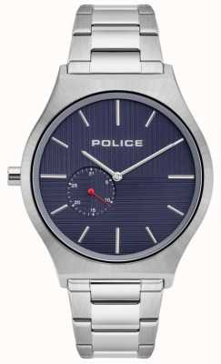 Police | Men's Orkneys | Stainless Steel Bracelet | Navy Dial | 15965JS/03M