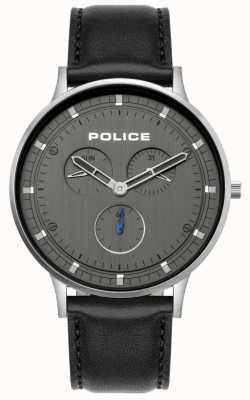 Police | Men's Berkeley | Black Leather Strap | Grey Dial | 15968JS/39