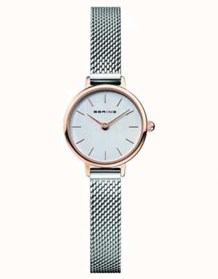 Bering   Women's Classic   Steel Mesh Bracelet   Grey Dial   11022-064