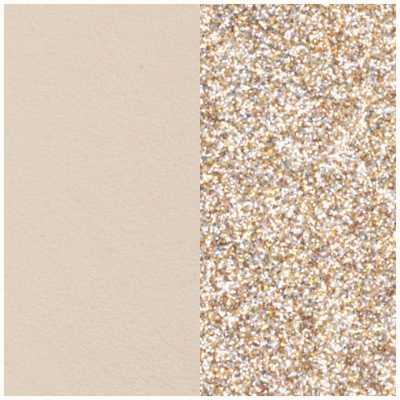 Les Georgettes 14mm Leather Insert   Cream/Gold Glitter 702145899C4000