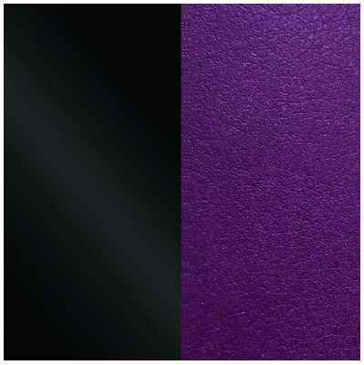 Les Georgettes 25mm Leather Insert   Patent Black/Dark Purple 702755199CJ000