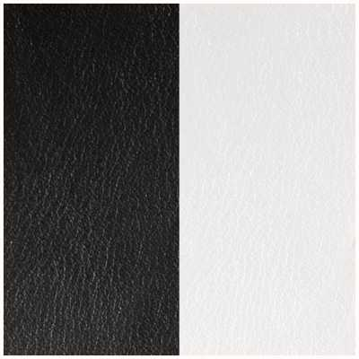 Les Georgettes 14mm Leather Insert   Black/White 702145899M4000