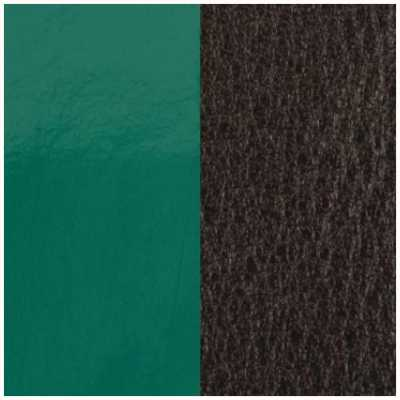 Les Georgettes 14mm Leather Insert   Patent Pine Green/Brown 702145899DF000