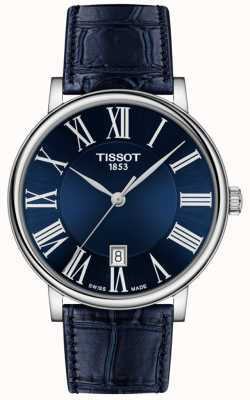 Tissot | Men's | Carson Premium | Blue Leather Strap | Blue Dial | T1224101604300