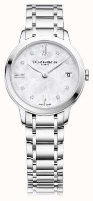 Baume & Mercier Classima Diamond | Stainless Steel Bracelet Mother Of Pearl M0A10326