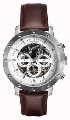 Weird Ape Icarus 3-dial   White Dial   Brown Leather Strap WA02-005741