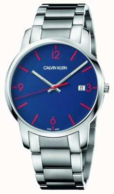 Calvin Klein Men's City | Stainless Steel Bracelet | Blue Dial K2G2G147