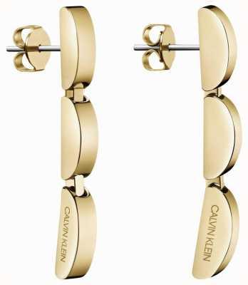 Calvin Klein | Small Gold Tone Wave Drop Earrings | KJAYJE100200