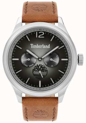 Timberland City Lifestyler | Brown Leather Strap | Black Dial | 15940JS/13