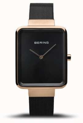 Bering | Women's Classic | Polished Black Mesh | Black Dial | 14528-166