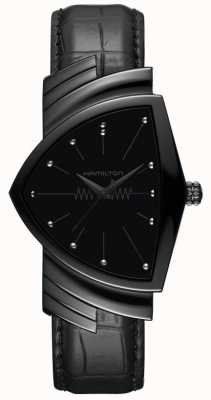 Hamilton Ventura | Men's Black Leather Strap | Black Dial | H24401731