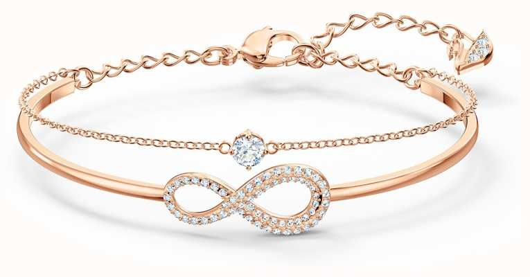 Swarovski Infinity Bangle | White | Rose Gold Plated | 5518871