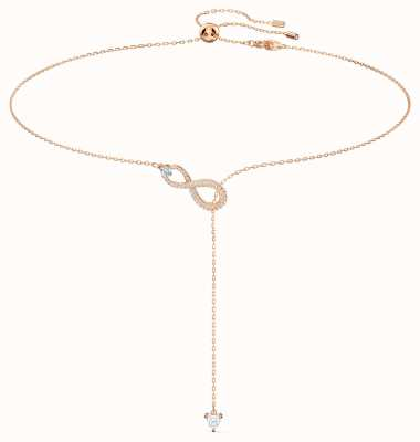 Swarovski Infinity | Y-Necklace | White | Rose Gold Tone Plated | 5521346