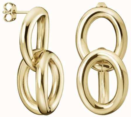 Calvin Klein | Statement | Gold Tone | Steel Drop Earrings | KJALJE100200