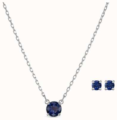 Swarovski | Attract Round Set | Blue Necklace And Earrings | 5536554