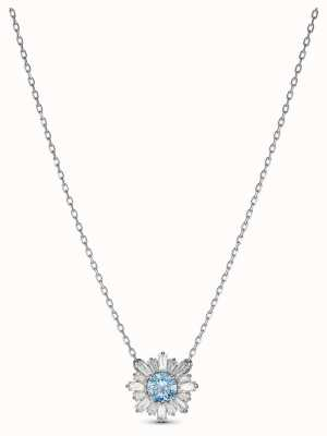 Swarovski | Sunshine | Rhodium Plated | Blue Crystal | Pendant | 5536742