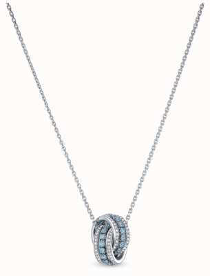Swarovski | Further | Rhodium Plated | Blue Crystal | Pendant | 5537106