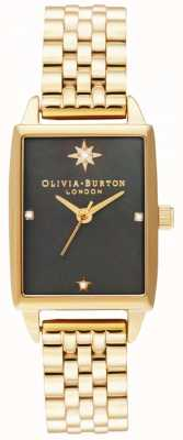Olivia Burton | Celestial Faux | Black Mother Of Pearl Dial |Gold Bracelet OB16GD60