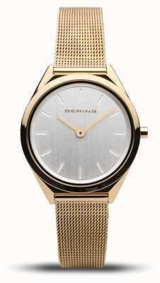 Bering   Unisex   Ultra-Slim   Gold Mesh Bracelet   17031-344
