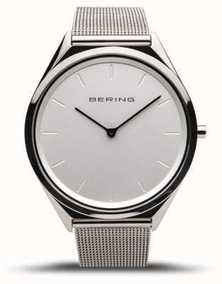 Bering | Unisex | Ultra-Slim | Polished Silver Mesh Bracelet | 17039-000